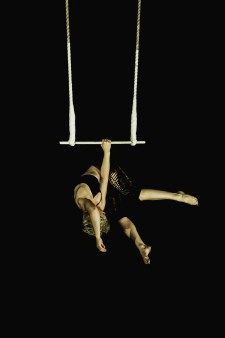 Trapeze act in the NICA first year show 2015